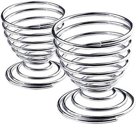 Preisvergleich für Morza Egg Metalldraht-Tray Cup Gekochte Eier Halter Spiral Werkzeuge Küche Frühstück Hard Boiled Federhalter Eierbecher
