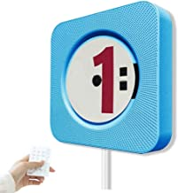 EONSMN CD Player Creative Wall Mounted Bluetooth Home Audio Speaker, Innovative Pull Switch, Remote Control USB charger an... photo