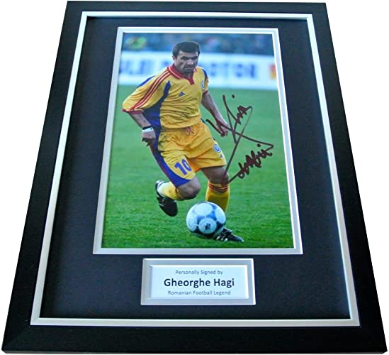 Sportagraphs Gheorghe Hagi Signed FRAMED Photo Autograph Display Rohommeia Football & COA