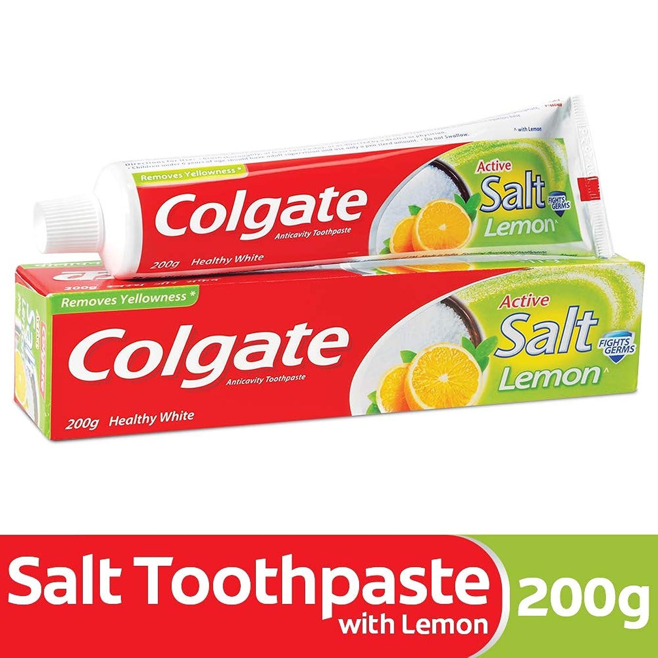 と組むストレスの多いコレクションColgate Toothpaste Active Salt - 200 g (Salt and Lemon)