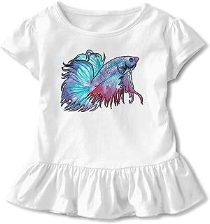 SC_VD08 Beta Fish Kids Children Crew Neck T-Shirt Pullovers