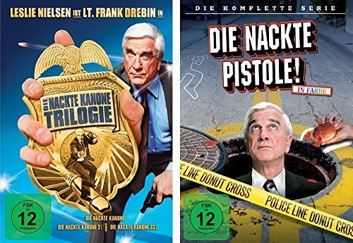 Produktbild Die nackte Kanone 1 / 2 / 3 + nackte Pistole komplette Serie im Set - Deutsche Originalware [4 DVDs]