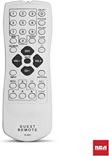 RCA Guest TV Remote for CT Series TVs | Standard Replacement Television Remote. Grey White.