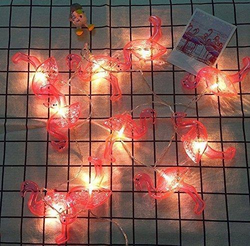UChic Guirlande Lumineuse 10 LED fonctionnant à Piles en Forme de Flamant Rose pour Festival, Mariage, Festival, fête, Anniversaire, Photo, Chambre à Coucher