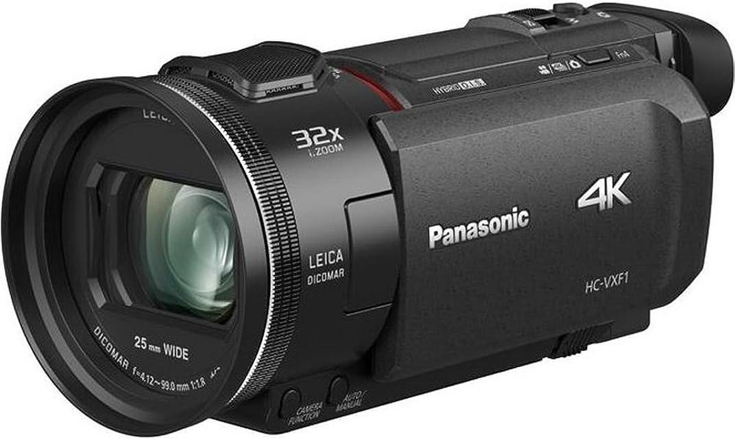 Panasonic HC-VXF1 - Videocámara Semi-Profesional de 24x Gran Visor Eletrónico O.I.S de 5 Ejes Objetivo Leica F1.8 - F4 Zoom 25 mm - 600 mm 4K HD Color Negro