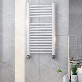 DIOE Minimalist Bathroom Flat Panel Heated Towel Rail Radiator - Modern Central Heating Space Saving Radiators - Perfect for Bathrooms,White