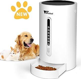 Amzdeal Comedero Automático para Perros Gatos - Dispensador