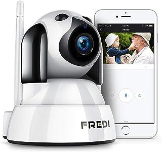 Fredi - Cámara de vigilancia IP inalámbrica con Wi-Fi monitor para bebés visualización remota tecnología P2P y resolución de 720p en forma de perro