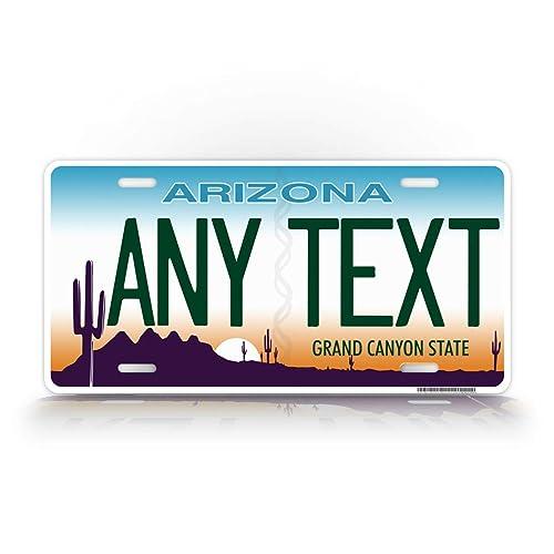 Arizona Flag White Arizona Metal Novelty License Plate