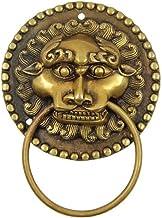 JYKFJ Deurklopper voordeurgreep knopen, messing deurklopper pull hardware Home Decoration Golden grootte: 14cm