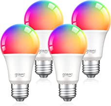 Alexa Smart Light Bulbs, Gosund 75W Equivalent E26 8W WiFi Led Bulb A19 RGB Color Changing Light Bulb Dimmable, Work with ...