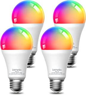 Smart Light Bulb, Lomota Dimmable A19 E26 WiFi LED Light Bulb, Compatible with Alexa and Google Assistant, 16 Million Colo...