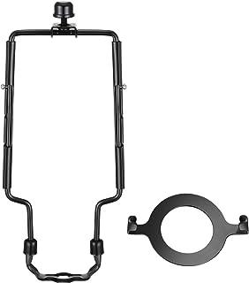 Canomo Adjustable Lamp Harp 8, 9, 10 Inches fits Regular Saddle Base or UNO Collar Ring Adapter for E26 phenolic Socket, W...