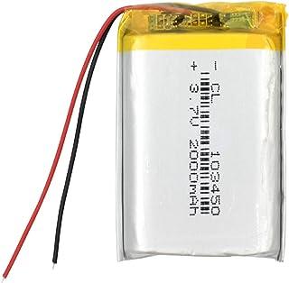RitzyRose Lithium-ion-accu, 3,7 V, 2000 mAh, oplaadbare polymeer-batterij voor bluetooth-luidspreker, walkie-talkie pos, G...