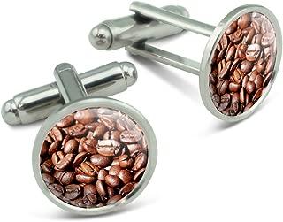 Coffee Beans Men's Cufflinks Cuff Links Set