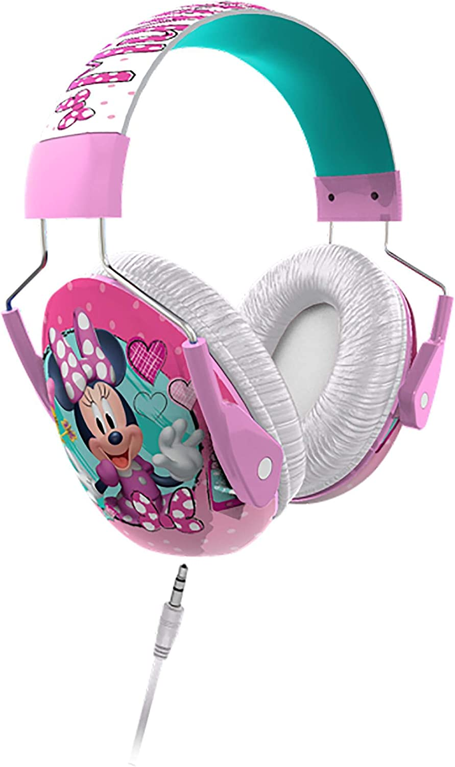Minnie Mouse Kids Ear Protectors Earmuffs Toddler Ear Protection + Headphones 2 in 1 Noise Reduction and Headphones for Kids Ultra Lightweight Adjustable Safe Sound Great for Concerts Shows and More