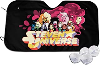Heyuchuan Steven Universe Car Windshield Sunshades - Universal Car Sun Shade Protector Front Window Cover for Maximum Sun Protection Fit for Most Car, SUV, Truck