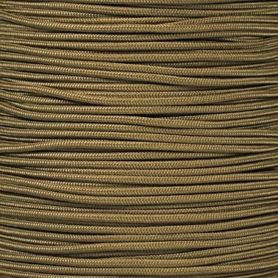 PARACORD PLANET Tactical 5-Strand Nylon Core 275-LB Tensile Strength Paracord Rope 3/32 Inch (2.38mm Diameter) (Coyote Brown, 100 Feet)