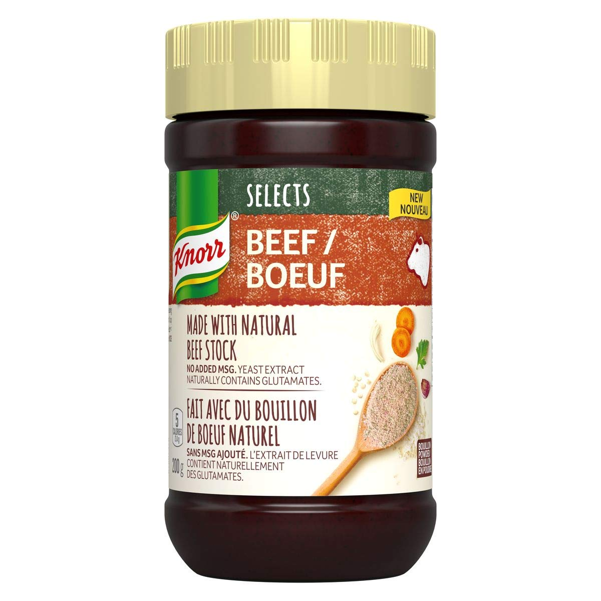 Knorr Selects Beef Bouillon Powder Popular product 7.1oz 200g from Imported San Diego Mall Ca