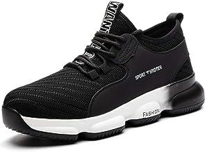 SROTER Chaussures de sécurité Homme Femmes Légèr Respirantes Embout Acier Protection Chaussures de Travail Antidérapante U...