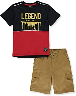 Onlyso Little Boys Classic Mesh Jersey T-Shirt and Short Set