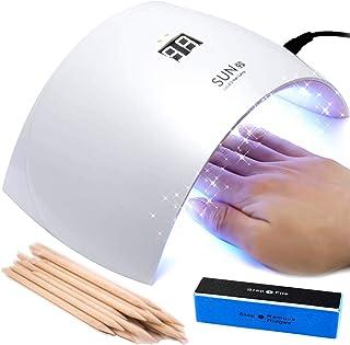 Lámpara LED de uñas 24 W secador UV profesional con temporizador y sensor (manos y pies) lámpara para semipermanente y kit de gel UV horno, secador de esmalte lámpara SUNUV 9S horno, uñas blancas