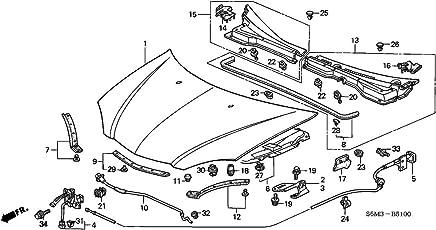genuine acura (74120-s6m-506) hood lock assembly
