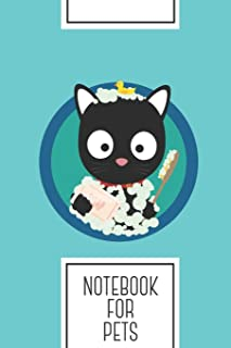 Notebook for Pets: Lined Journal with Bathing Cat with bath foam Design - Cool Gift for a friend or family who loves kitte...