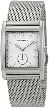Movado Heritage White Dial Stainless Steel Mesh Men's Watch