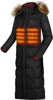 IHAYNER Heated Jackets Women Lightweight Winter Coats with Detachable Hood and Battery