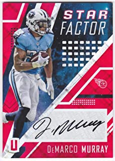 DeMarco Murray 2017 Panini Unparalleled Star Factor Autograph Red #23 NM-MT Auto #17/25 Titans Football NFL