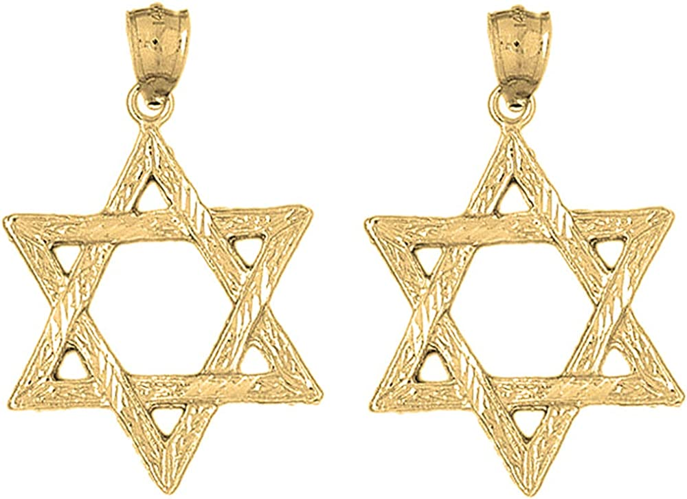 Jewels Obsession High quality new Star of David Gold Earrings Large discharge sale o 14K Yellow