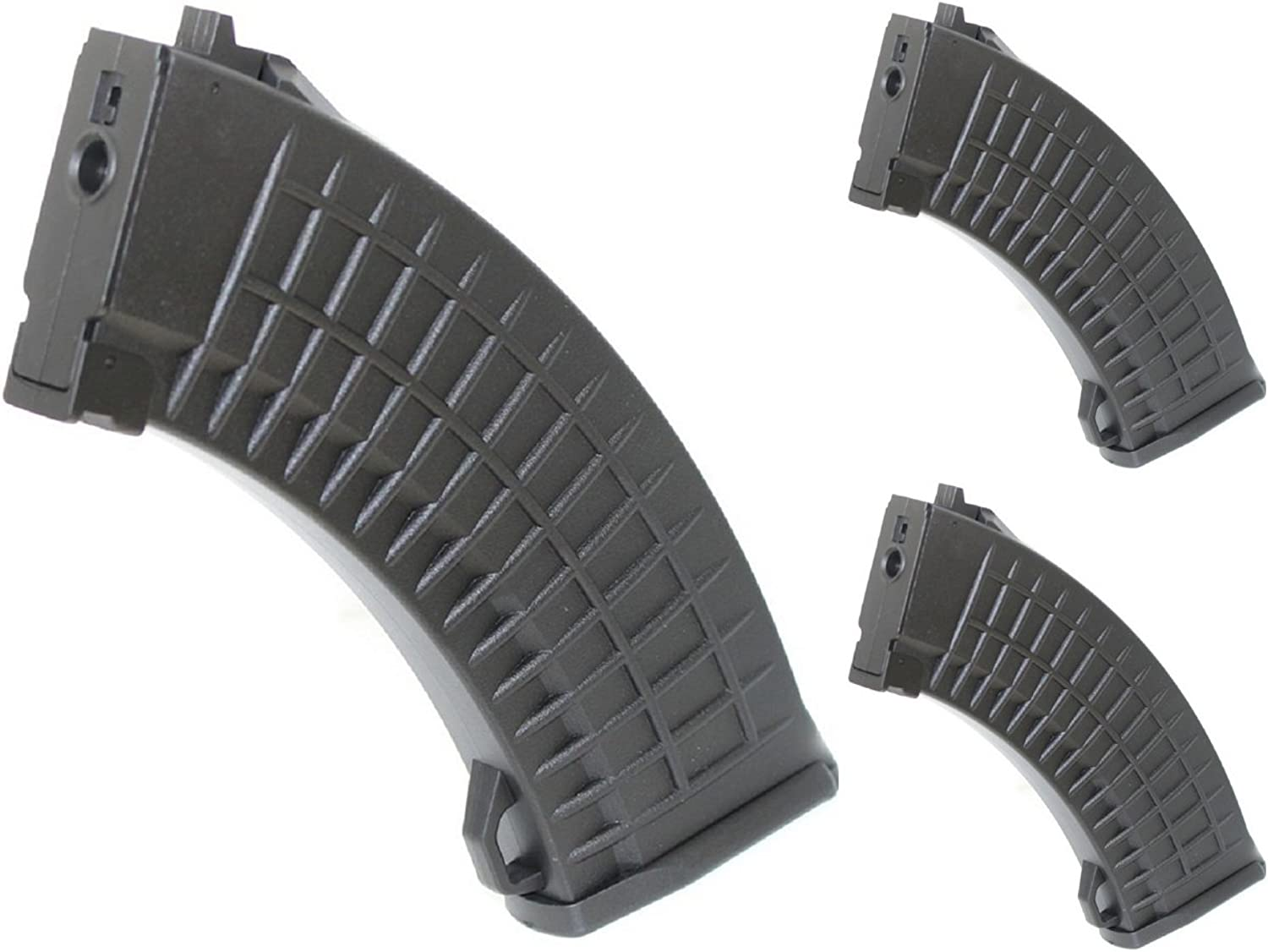 Airsoft Shooting Gear 3pcs Pack CYMA 150rd MidCap Waffle Magazine for AKSeries AEG Black