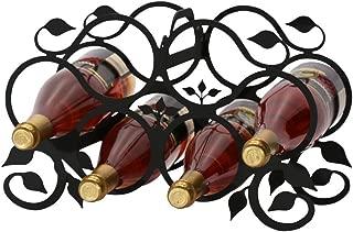 Wrought Iron Grapevine Wine Rack (6 Bottle)