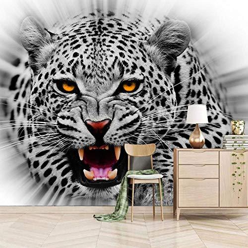Papel Pintado Pared Gris Leopardo Marca MYYDM