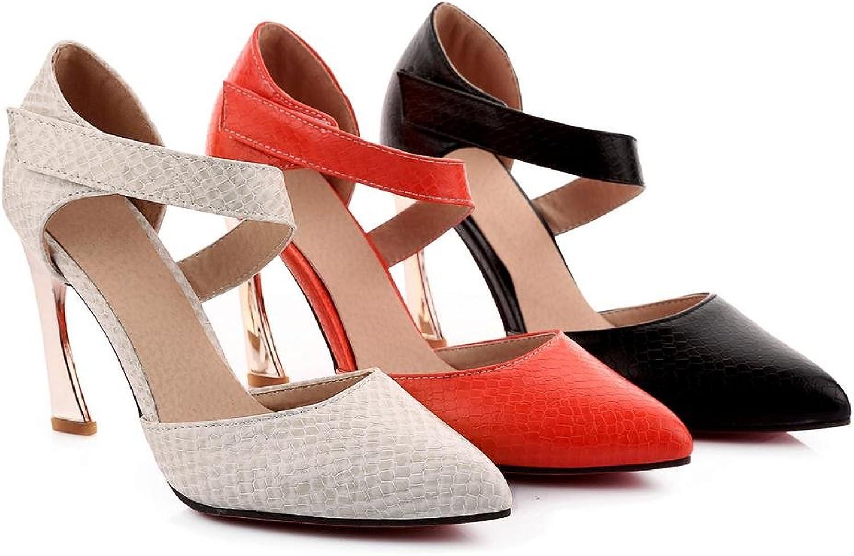 AIURBAG Damen-High Heels-Büro Lässig Lässig Lässig Kleid-Kunstleder-StöckelabsatzWeiß Schwarz Rot  2927c5