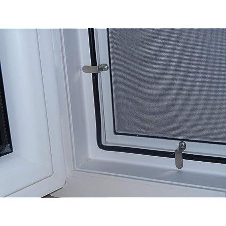 Fenster Alu 150cm x 170cm, 22mm Einh/ängewinkel Insektenschutz Fliegengitter M/ücken Weiss optimal f/ür Roll/äden