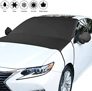 Unity-Link Windshield Cover and Mirror Covers, Ice Shield Snow Cover for Windshield, Protects from Snow, Ice and Frost, Windshield Sun Shade Fits Most Cars Truck, Vans, SUVs - Size 81''x66''