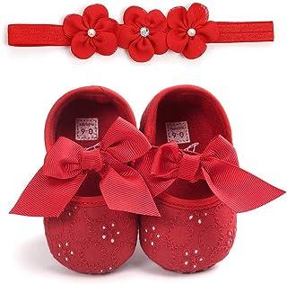 Set para recién nacido, zapatos de primeros pasos, Bowknot, flores, bautizos, niños, zapatos de bebé, princesas antideslizantes + diadema para bebé