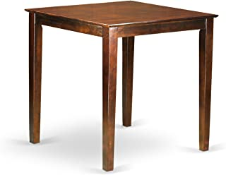 East West Furniture Counter Height Square Table, Mahogany Finish
