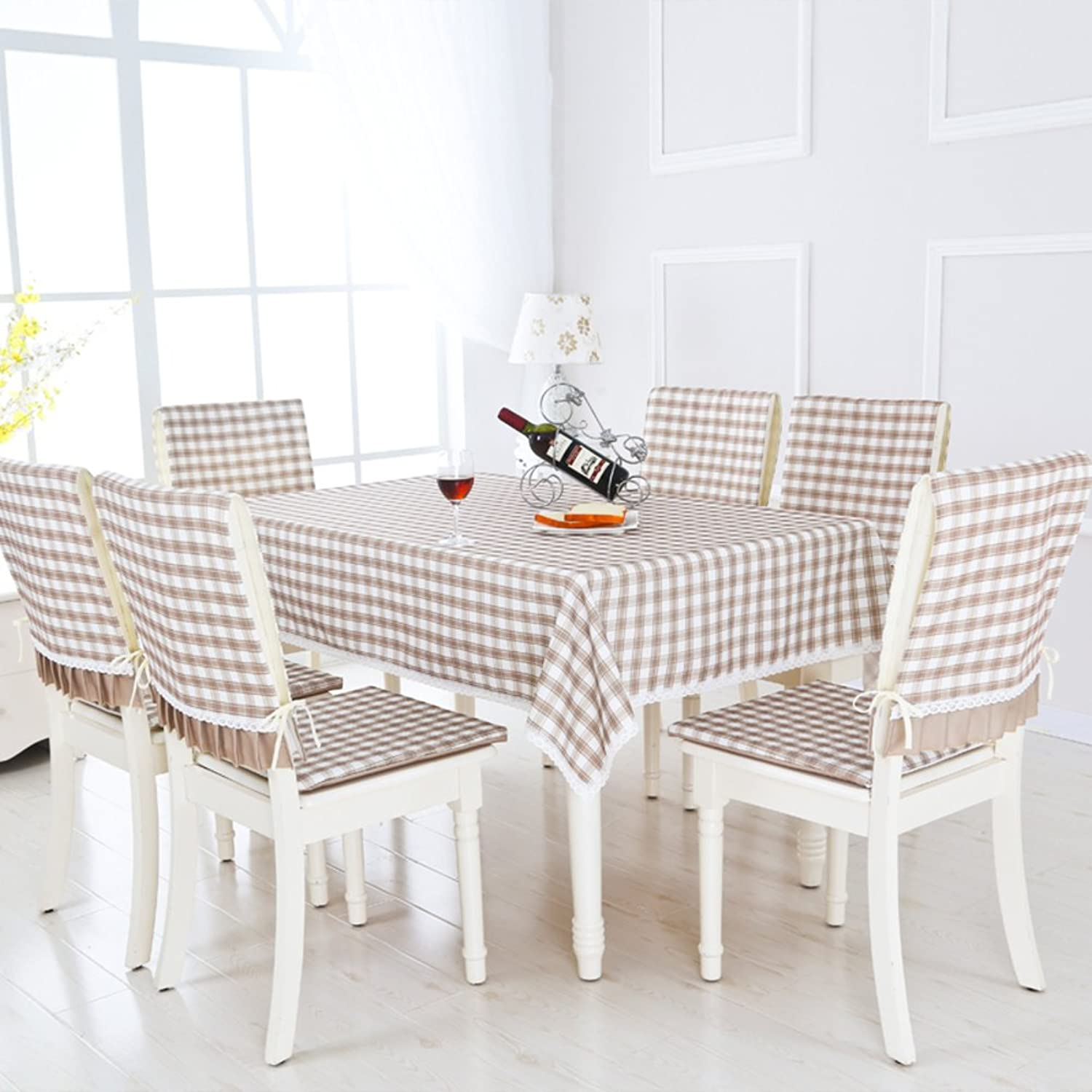 Lattice antiOil tablecloth dining room table linen table covers for home hotel cafe restaurantB Circle(150150cm)