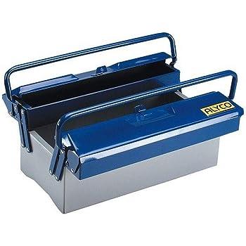 Alyco 192731 - Caja de herramientas metalica de 3 bandejas 420 x 200 x 200 mm 4,3 Kg: Amazon.es: Bricolaje y herramientas