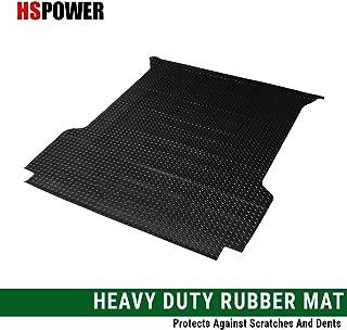 HS Power Black Finished 88-00 Chevy C10 C/K 1500/2500 / 3500 Fleetside 6.5 Ft Short Truck Bed Rubber Diamond Floor Mat Carpet