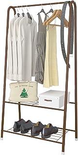 UDEAR Portants, étagère de Rangement à 2 Niveaux pour Organisateur Portable Simple, vêtements et Chaussures de Magasin, po...