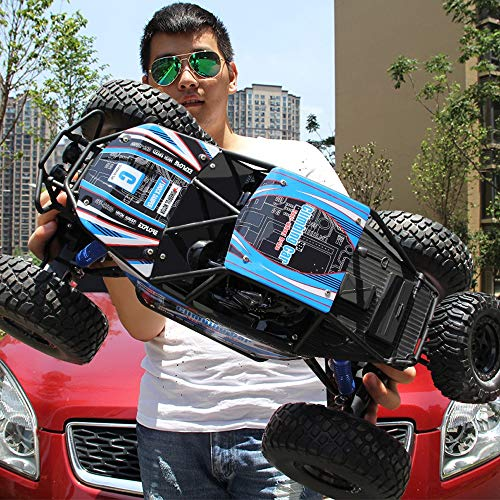 Lotees 1/10 RC All-Terrain Rock Crawler Off-Road Cars Remote Control Big-Foot Car 4WD RTR Buggy Monster Truck 2.4Ghz Climbing Track Electric Toys 10 Years Old Children's Birthday Present