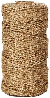 Jute Schnur Hanf,100 Meter Kordel Natürliche Jute Seil 1.5mm Hanfseile String Ball für Floristik, Hochzeitskarte, DIY Handwerk, Home, Verpackung Gartenanwendungen