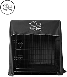 Floppy Dawg Crate Cover. Fits Most Dog Crates. Easy to Put On, Take Off, and Adjust. Doubles as a Comfy Blanket. Lightweight and Breathable Polar Fleece. Available in Gray, Red and Green