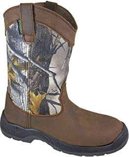 [Smoky Mountain] BootsメンズBrushfield Camo CrazyレザーWP Steel Toe