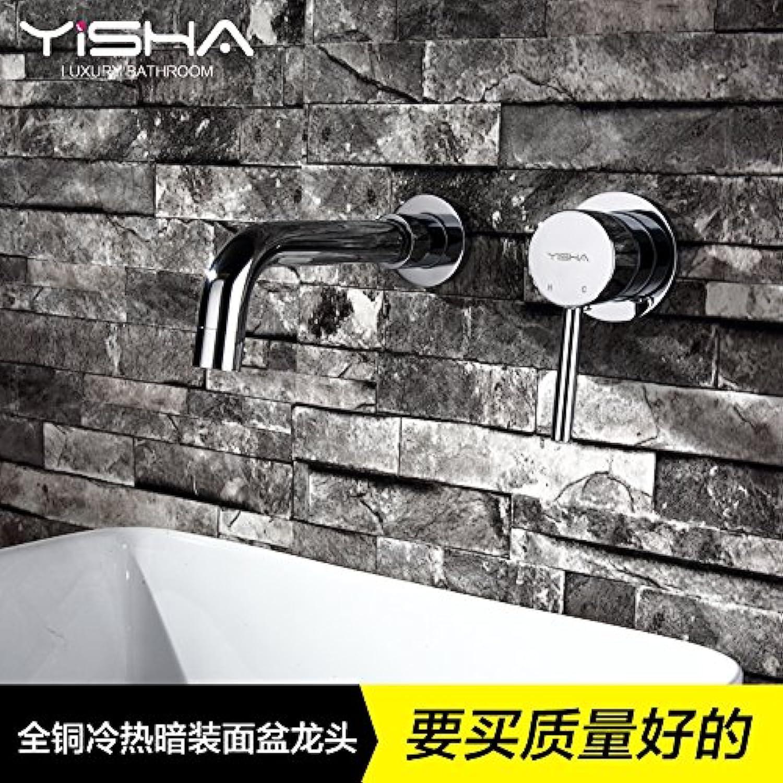 Maifeini Kupfer In Der Wand Verborgene Waschbecken Wasserhahn Warmes Und Kaltes Badezimmer Waschbecken Waschbecken Wasserhahn über Zhler