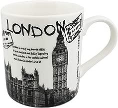 Coffee Mugs 12-OZ New bone china Multi-Colored London Design Coffee and Tea Dishwasher & Microwave Safe 1-Pack